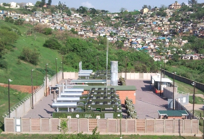 Landfill gas plant South Africa