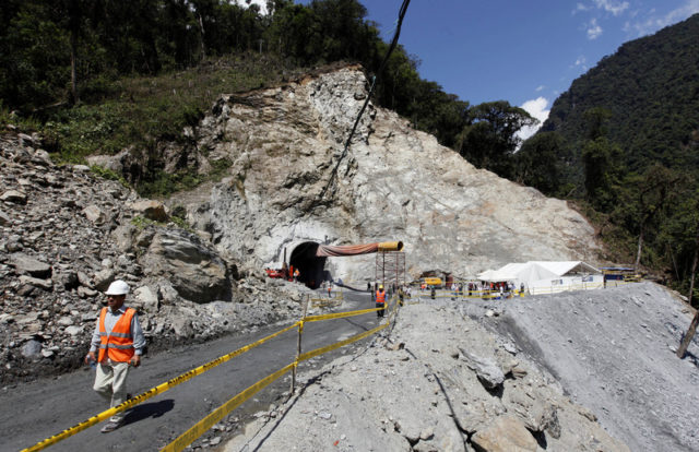 Sopladora hydroelectric project accident