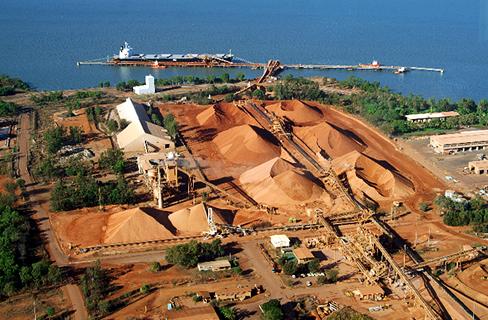 Weipa bauxite mine, Australia