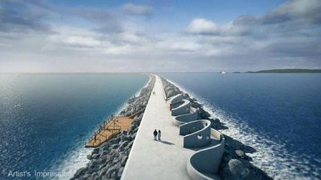 Swansea tidal power project