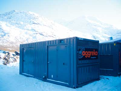 Aggreko power containers