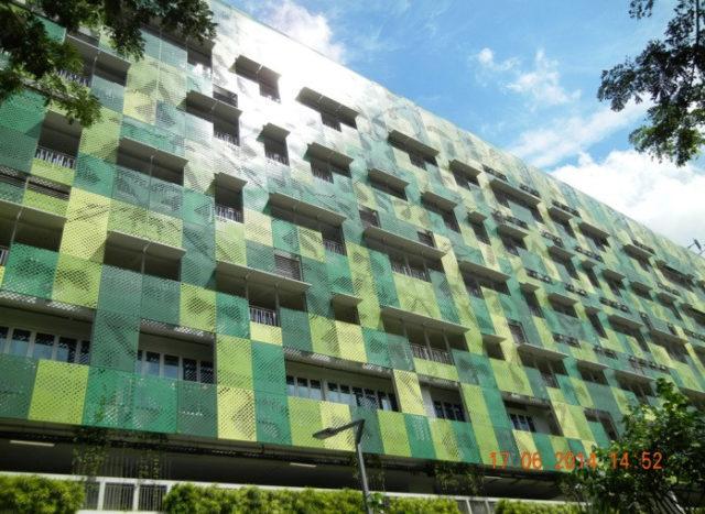 Organic on-site solar photovoltaic facade
