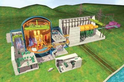EPR nuclear reactor model
