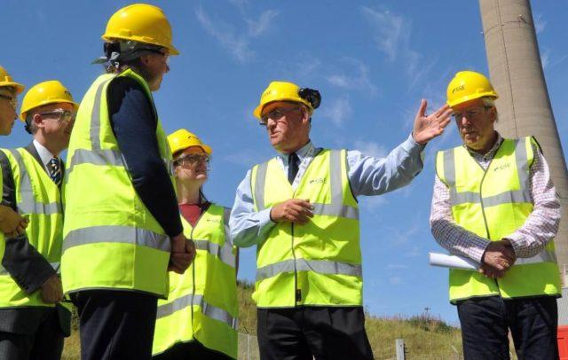 Engineers at Peterhead carbon capture and storage