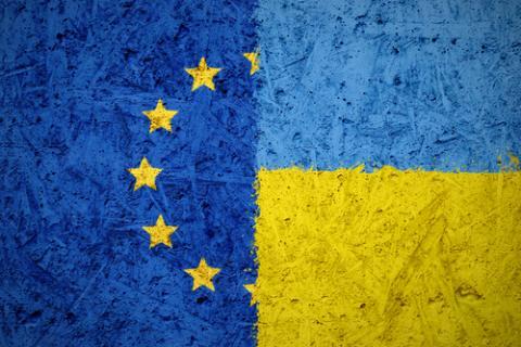 EU- Ukraine flag