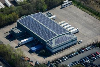 On-site solar system at Kanes Foods, Eversham, UK