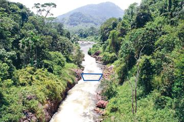 Location of Broadlands hydropower project, Sri Lanka