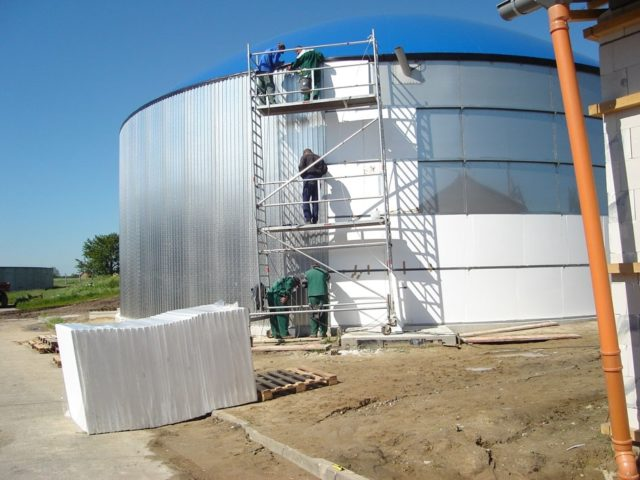 Biogas plant in France (credit Weltec Biopower)