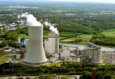 Lunen coal fired chp plant
