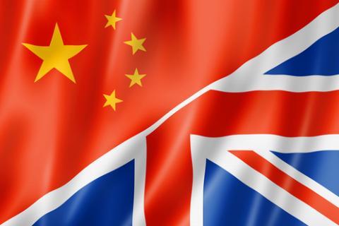 China -UK flags