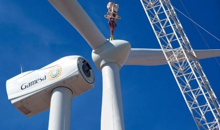 Gamesa wind turbine assembly