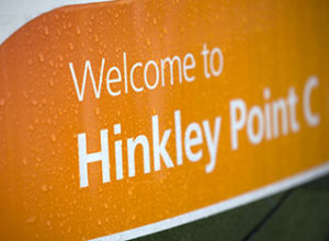 Sign for Hinkley Point C nuclear power plant