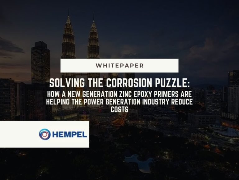 Solving the corrosion puzzle:  How a new generation zinc epoxy primers are helping the power generation industry reduce costs