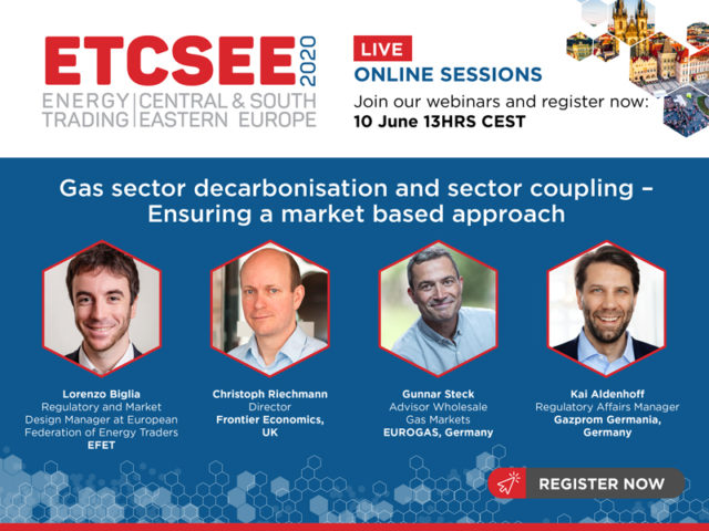 """Webcast recording: Gas sector decarbonisation and sector coupling """" Ensuring a market based approach"""