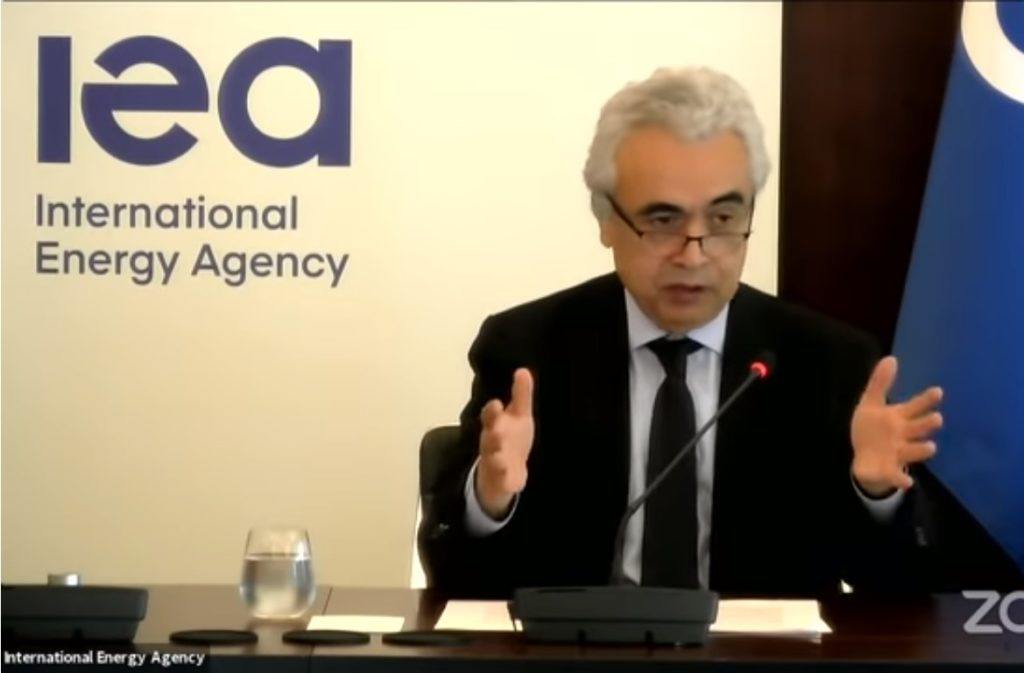 IEA executuve director Fatih Birol says carbon capture technology is vital to hit climate change targets