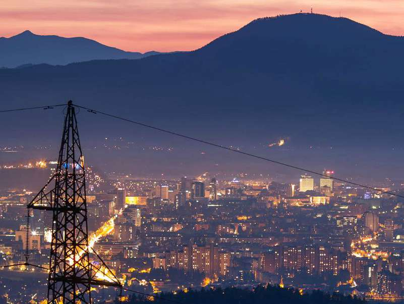 Nexans image of city lights