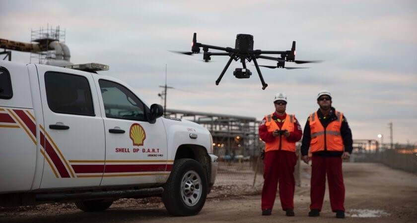 Drone-company-DJI-has-announced-a-partnership-with-Shell