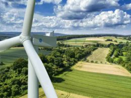 German landscape with GE Cypress wind turbine