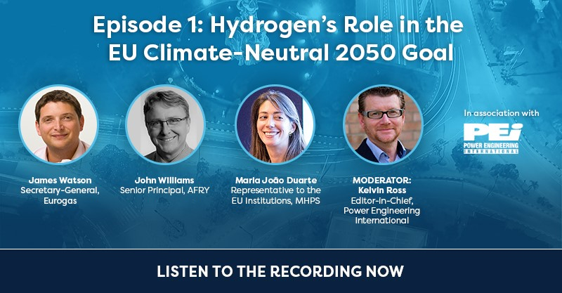Webcast recording: Hydrogen's Role in the EU Climate-Neutral 2050 Goal
