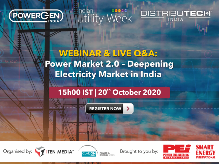 """Webcast Recording: Power Market 2.0 """" Deepening Electricity Market in India"""