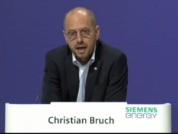 Siemens Energy chief executive Christian Bruch
