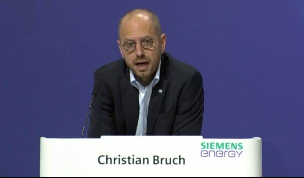 Siemens Energy chief executive Christian Bruch