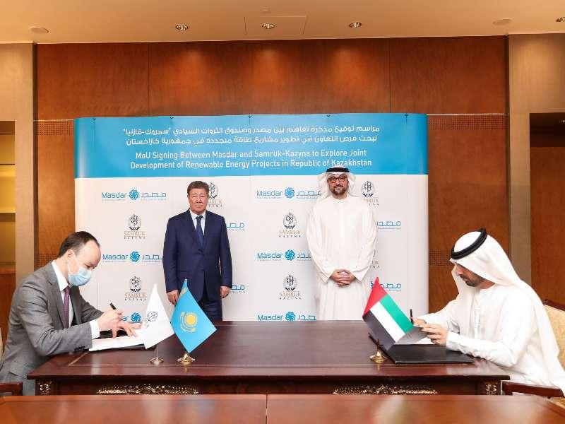 Masdar signs strategic agreement with Samruk-Kazyna