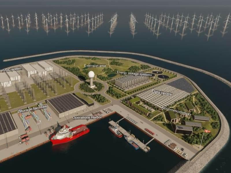 Artificial energy island
