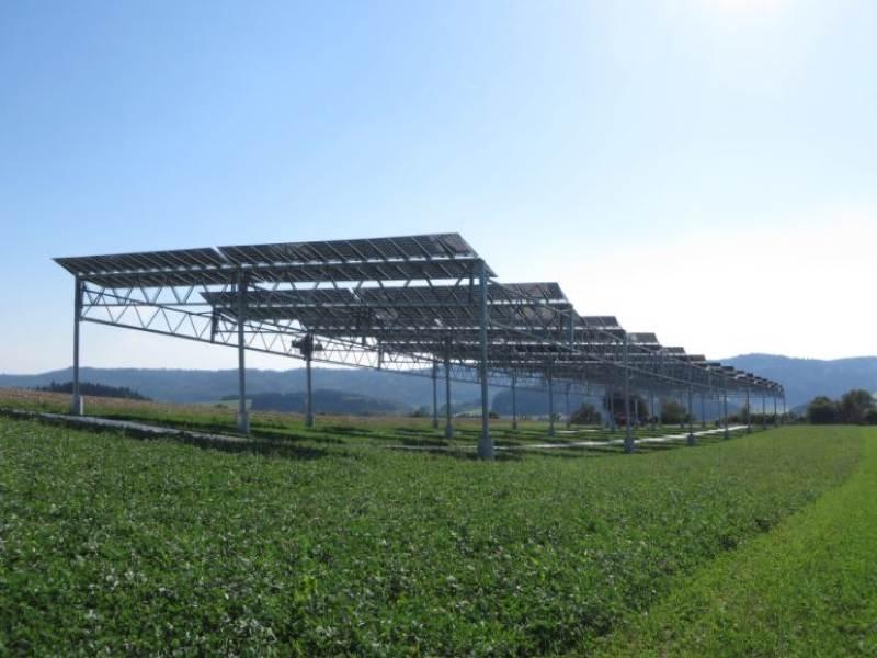 Agrivoltaics test plant