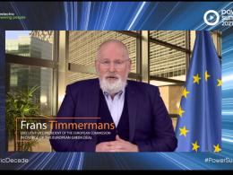 Timmermans outlines EU's 'Herculean task' of decarbonisation