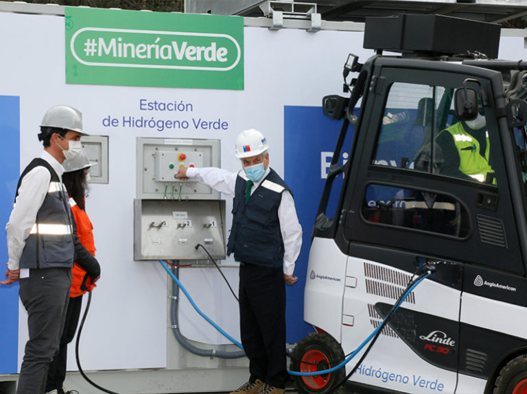 Anglo American launches green hydrogen refuelling in Chile