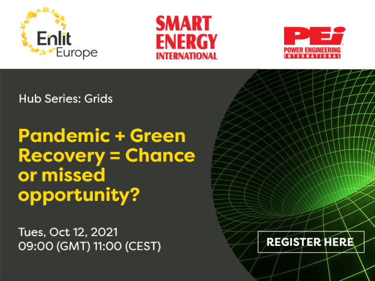 Webcast 12 Oct | Pandemic + Green Recovery = Chance or missed opportunity?
