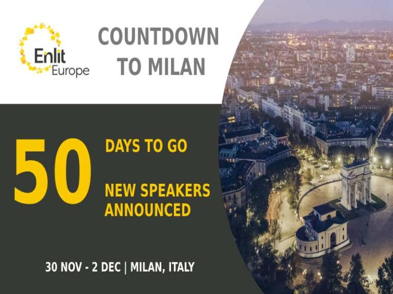 Enlit Europe announces 50 headline speakers
